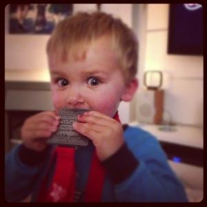 Sam's medal