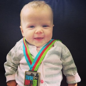 Eva and medal