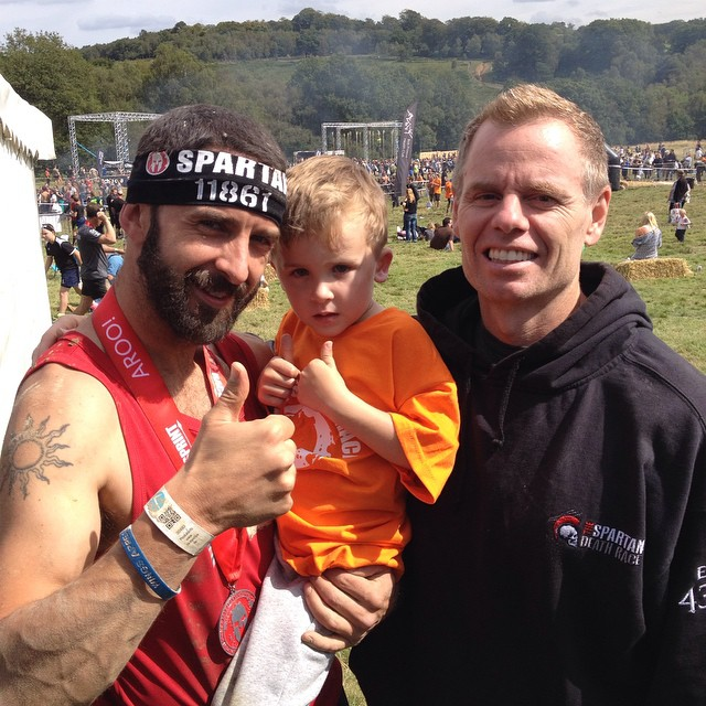 The new Spartan boys meet the Spartan Race founder Joe Desena