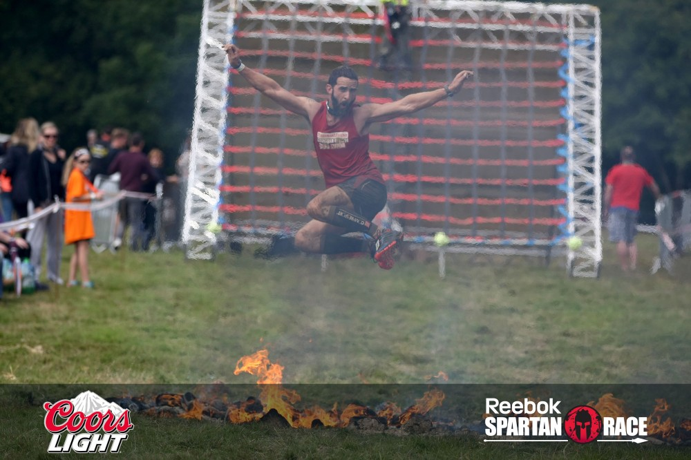 Sam was waiting for me just before this obstacle and I thought, this is one finish line I'm NOT carrying Sam over! ;-)