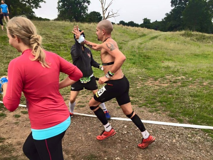 My OCR mate Pedro at the bottom of the final hill!